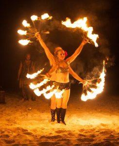 Tulum Beach Wedding Fire Show