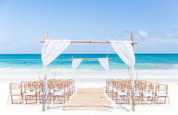 Tulum beach wedding arbor
